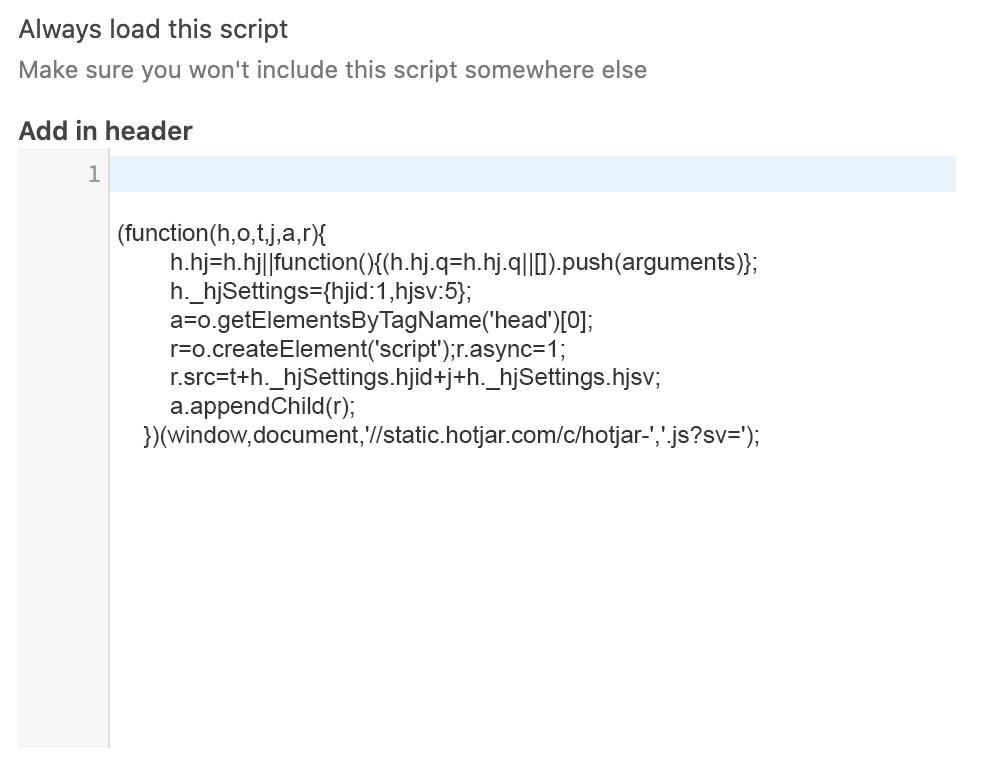 Custom code in CookieLegit